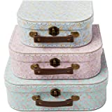 SET OF 3 GRACE FLORAL SUITCASES - Storage Boxes by RSQO