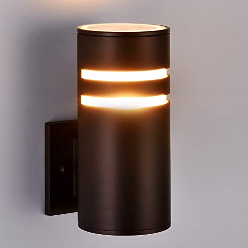 Modern Outdoor Wall Light 2 Pack, Aluminum Waterproof Wall Sconce for Porch Patio, Oil Rubbed Bronze ETL Listed