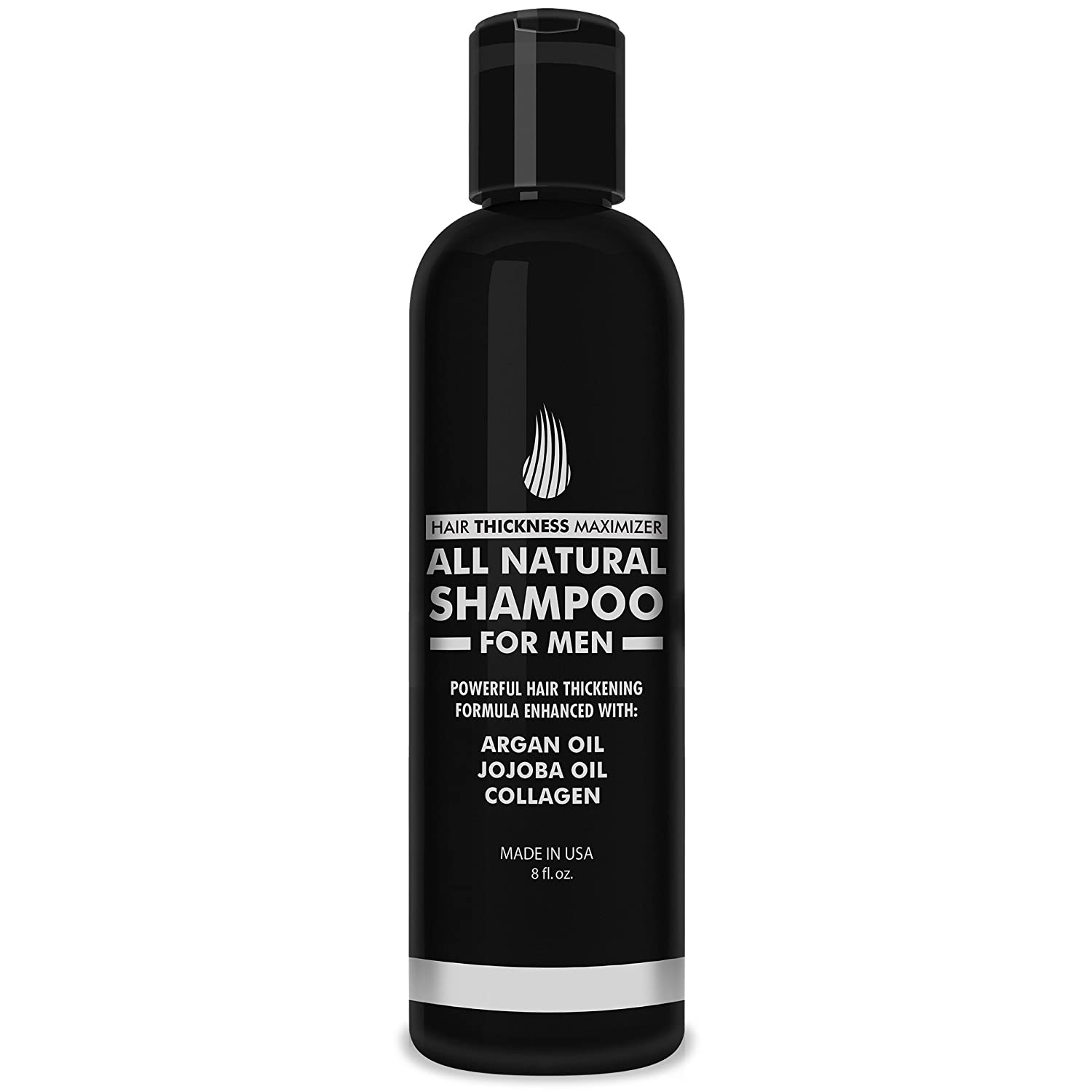 Hair Growth Shampoo for Men - Hair Thickening Shampoo by Hair Thickness Maximizer. Best Treatment for Thinning/Hair Loss. Paraben Free with Argan Oil