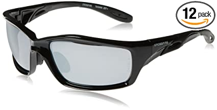 8e8683c92c1 Image Unavailable. Image not available for. Color  Crossfire 263 Infinity Safety  Glasses Silver Mirror Lens - Shiny Black Frame