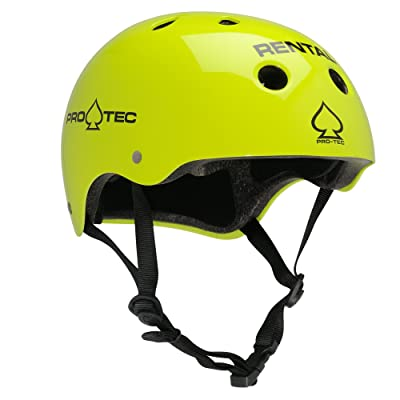 PROTEC Original Classic Rental Skate Helmet CPSC-Certified, Gloss Yellow, X-Small : Skate And Skateboarding Helmets : Sports & Outdoors