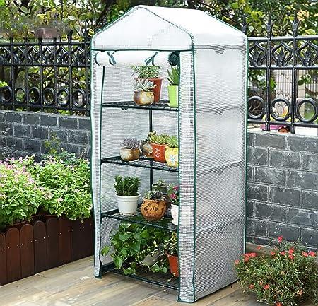 ZWWS-YJ Invernadero del jardín 4to Piso Invernadero del jardín Adecuado para Plantas de Flores Tienda de Invernadero de Planta al Aire Libre Caliente (Color : B): Amazon.es: Hogar