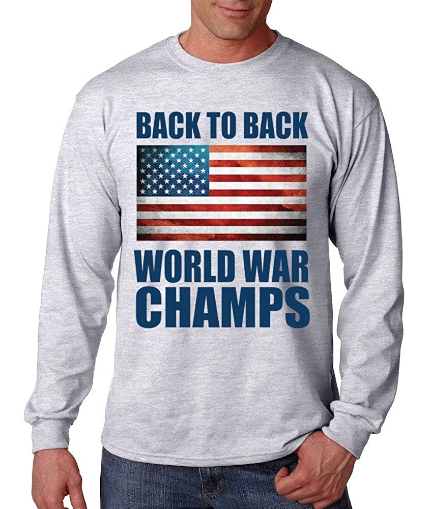 39666870d Amazon.com: 'Back to Back World War Champs' Long Sleeve Tee: Clothing
