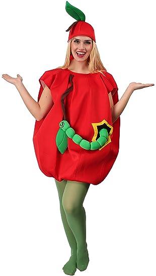Karnevals Gigant Apfel Kostum Rot Grun Fur Erwachsene