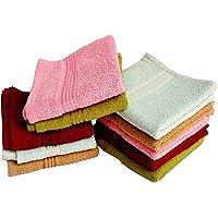 MYTHOS Very Soft Fresh Loom 300 GSM 100% Cotton Face Face Towel, Handkerchiefs-25cmX25cm/10 x10 INCH (5 Pieces_Multi Color)