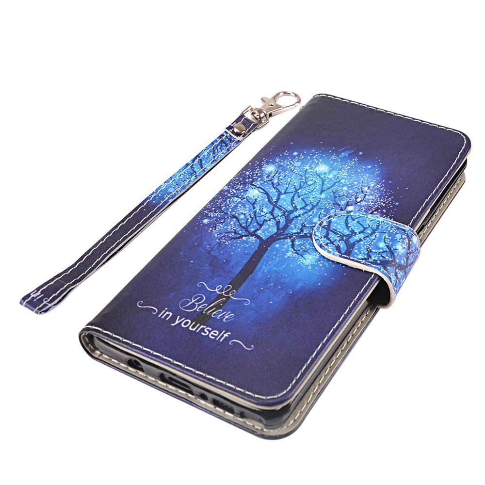 Galaxy Note 8 Case, MagicSky Galaxy Note8 Wallet Case, Premium PU Leather Wristlet Flip Case Cover with Card Slots & Stand for Samsung Galaxy Note8 - Believe in Yourself