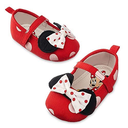 bbe8bd2b041 Disney Store Red Polka Dot Minnie Mouse Baby Costume Dress Up Shoes