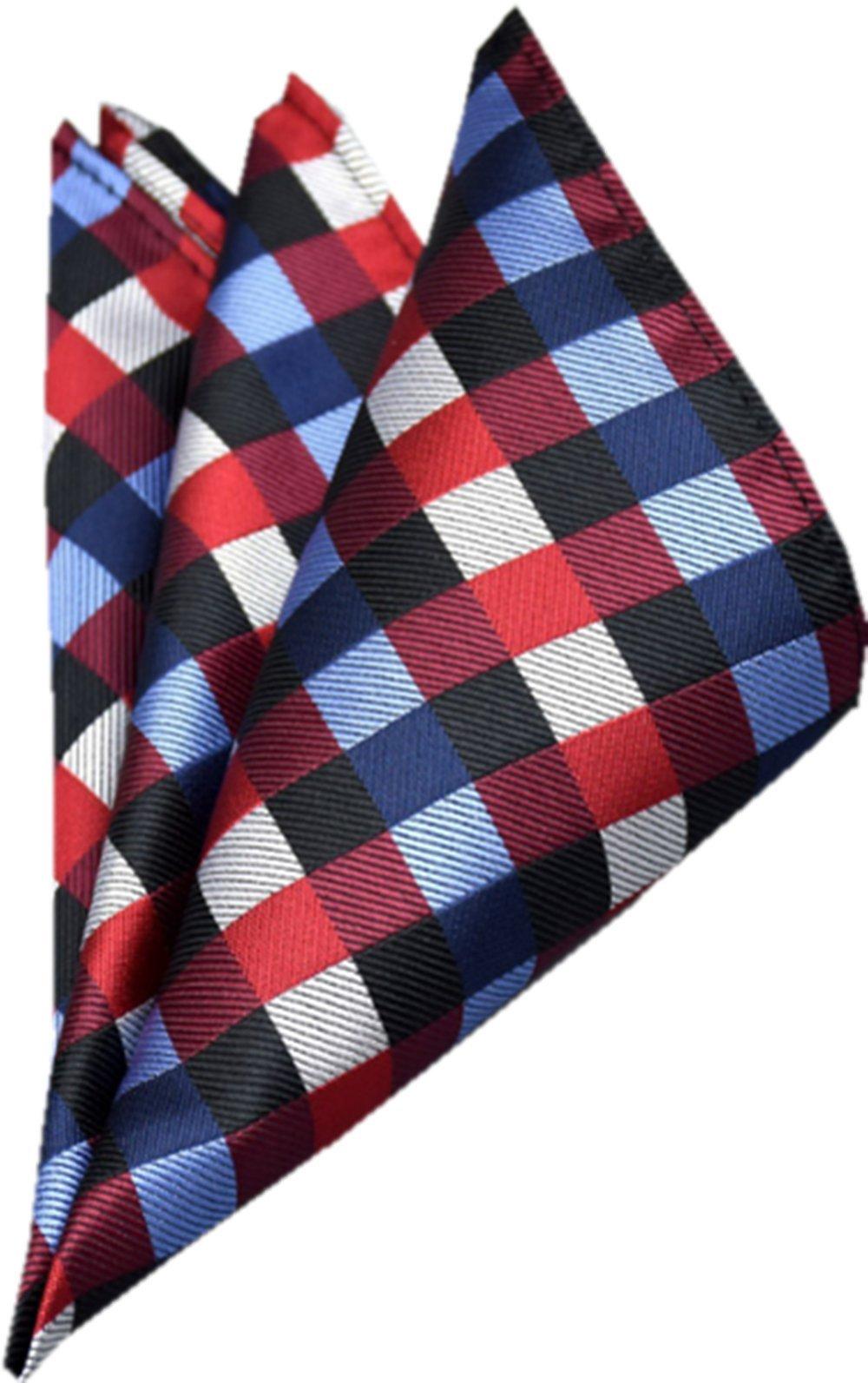 YUNEE Men's Pocket Square Handkerchief Wedding Gift (Color 4)
