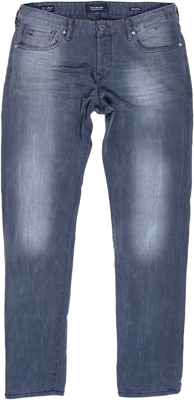 Men/'s Scotch and Soda Ralston Concrete Bleach Regular Slim Jeans