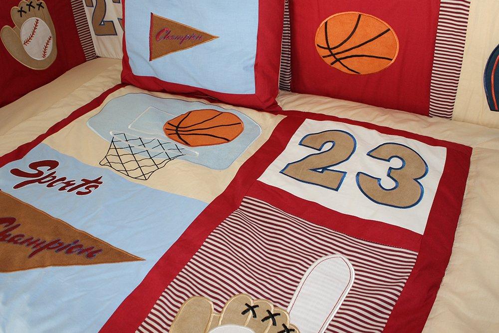 BabyFad Sports Champion 10 Piece Crib Bedding Set 30033US