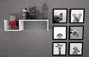 Prateleira MDF UN Branca 79,5 x 20 x 20 cm - Mobes