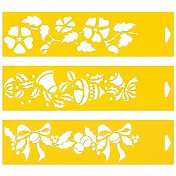 Satz Von 3 30cm X 8cm Flexibel Kunststoff Universal Schablone