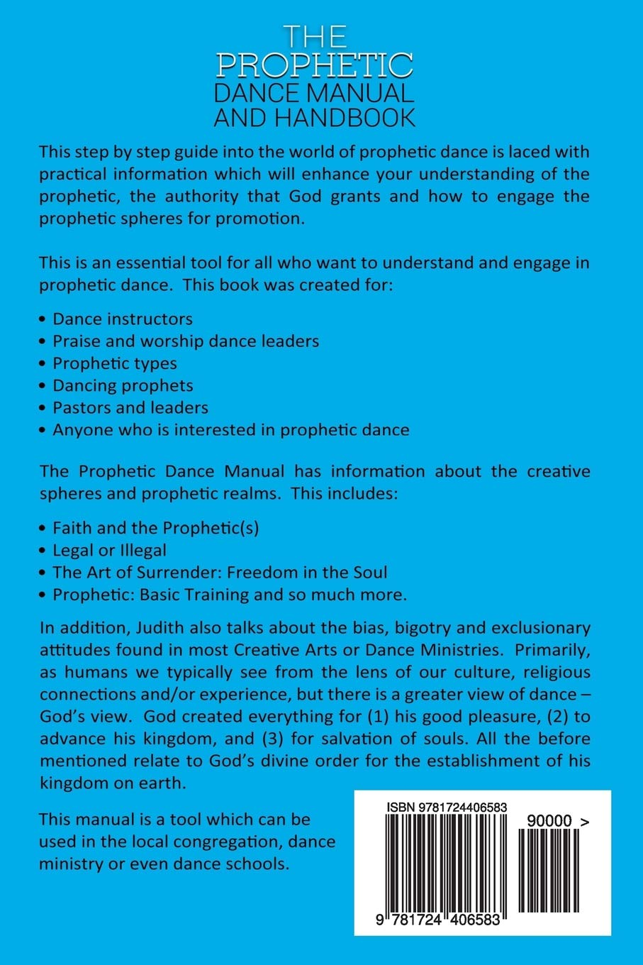 Prophetic Dance Manual and Handbook: The Expressions, Gestures and Word of  God through Dance: Judith John: 9781724406583: Amazon.com: Books