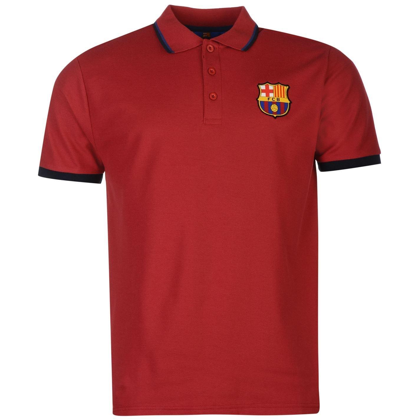 FC Barcelona Polo para hombre fuente Lab para hombre Deep rojo ...