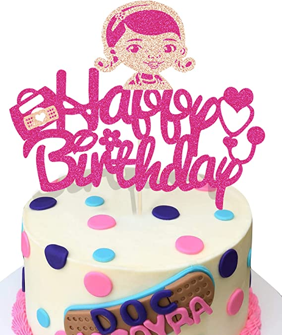 KAPOKKU Glitter Middle Finger It/'s My Birthday Cake Topper Funny Happy Birthday Party Decorations