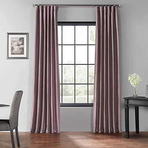 HPD Half Price Drapes PDCH-KBS11BO-96 Blackout Vintage Textured Faux Dupioni Curtain 1 Panel