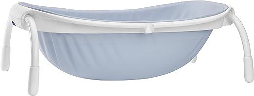 Baignoire pliable pour b/éb/é gar/çon avec filet de bain bleu