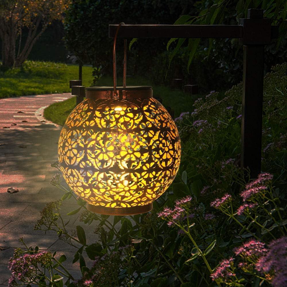 Yafido Solarlaterne f/ür au/ßen 3000K Warmwei/ß Solarlampe IP65 Wasserdicht f/ür au/ßen Terrasse Rasen Garten Gehweg Hof