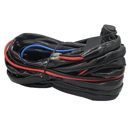 amazon com heavy duty wiring harness ampper 14 awg waterproof rh amazon com light bar wiring kits pendant light wiring kits