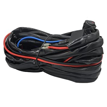 71hdbgsGjCL._SY355_ amazon com heavy duty wiring harness, ampper 14 awg waterproof led light bar wiring harness heavy duty at mifinder.co