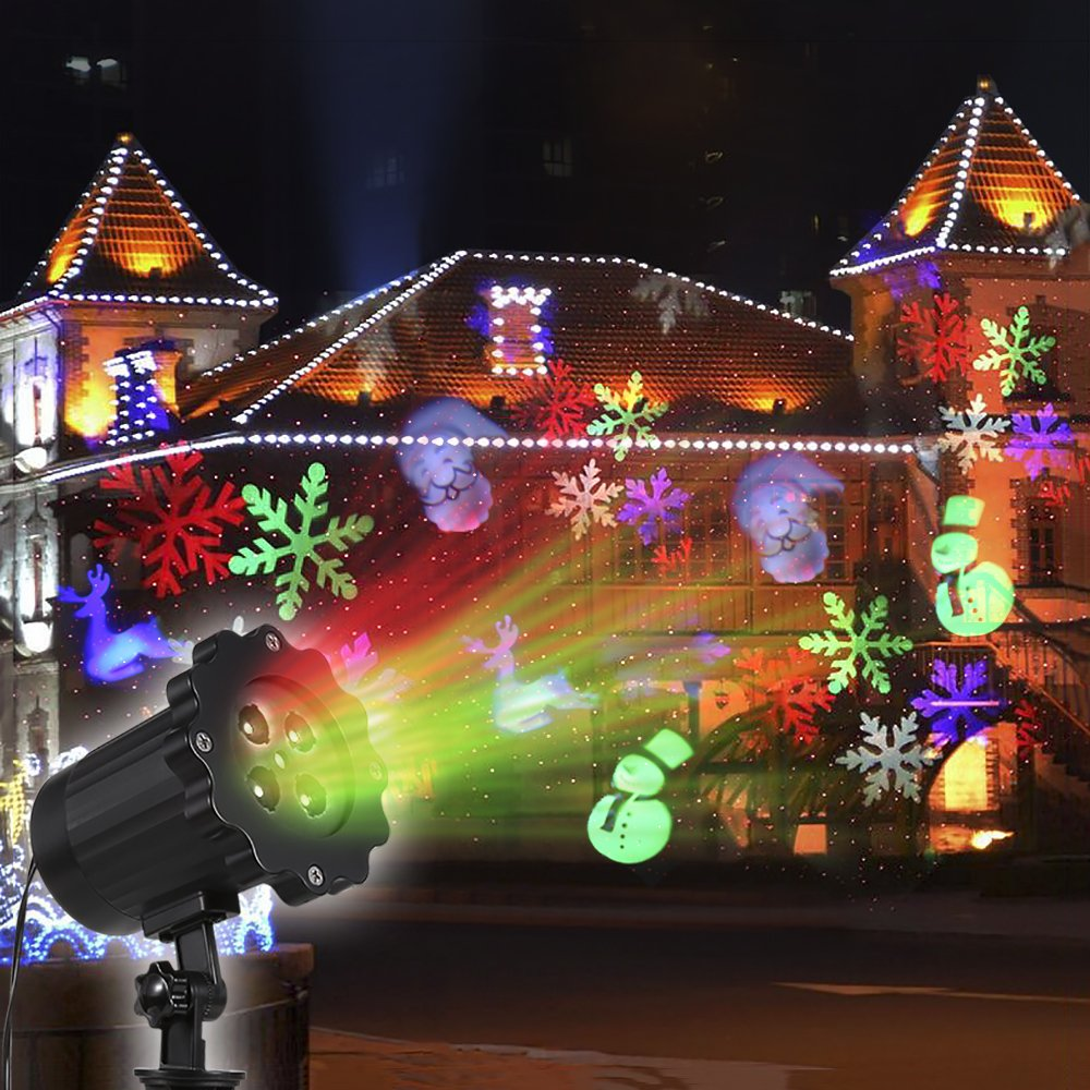 led projector lights moving christmas cartoon sg holiday projector lights with 4 moving patterns outdoor landscape laser projector lights for xmas - Led Projector Christmas Lights