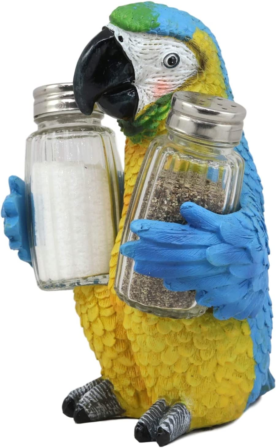 Blue Macaw Ebros Gift Tropical Rio Rainforest BlueScarlet Macaw Parrot Wine Bottle Holder Caddy Figurine 10.25Long Kitchen Dining Party Hosting Decor Statue Of South American Evergreen Forest Birds