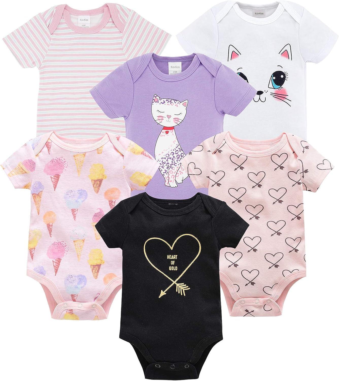 Newborn Baby Boys/' Bodysuit Pack of 3 Short Sleeve 100/% Cotton Size 0-12 Months