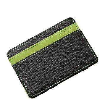 Cardet Simple Equipaje Hombres Billetera Mágica es Para Creativa Green Amazon color qtItO4w