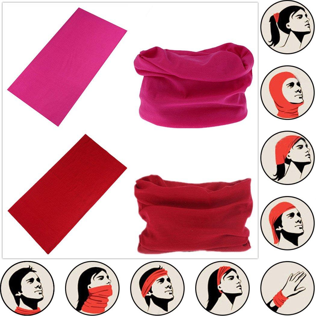 Headwear Head Wrap Sport Headband Sweatband 220 Patterns Magic Scarf 12PCS & 6PCS 12 in 1 By VANCROWN (12PCS.Solid Color) by VANCROWN (Image #3)