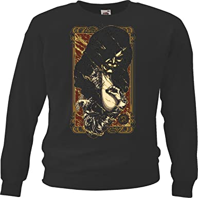 Sudaderas Suéter Gothic Tatuaje Vida DE Manera Streetwear Hiphop ...