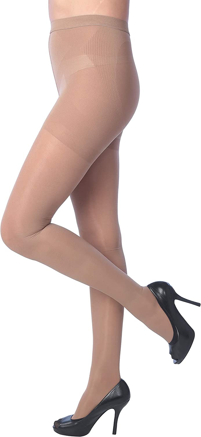 15-25 mmhg Isadora Paccini Womens Compression Pantyhose Medical Stockings Helps Relieve Symptoms of Mild Varicose Veins,