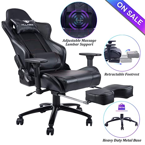 Prime Blue Whale Massage Gaming Chair Big And Tall 350Lbs High Back Racing Computer Desk Office Chair Swivel Ergonomic Executive Leather Chair With Spiritservingveterans Wood Chair Design Ideas Spiritservingveteransorg