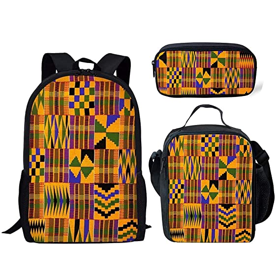 343161d23f82 Amazon.com | Salabomia African Tribal Ethnic Print Backpack Set 3 ...