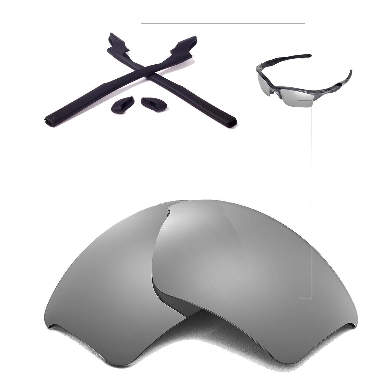 c36a36c89f8 Walleva Replacement Lenses Or Lenses Rubber for Oakley Half Jacket 2.0 XL  Sunglasses - 43 Options (Titanium Polarized Lenses + Black Rubber)   Amazon.ca  ...