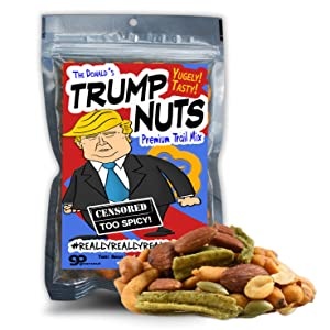 The Donald's Trump Nuts Trail Mix - Funny Snack Mix for Teens and Adults - Weird Stocking Stuffer, Made in the USA