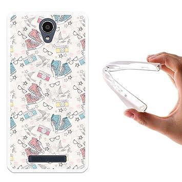 WoowCase Funda para Xiaomi Redmi Note 2, [Xiaomi Redmi Note 2 ] Silicona Gel Flexible Zapatos Camara Gafas Estrellas, Carcasa Case TPU Silicona - ...
