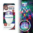 Global Gizmos 45350 Colour Changing Disco Party Light Bulb Auto Rotating Ceiling or Table Bayonet Cap, 3W
