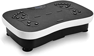 TODO Vibration Platform Whole Body Vibrating Massager, Remote Control/Bluetooth Music/USB Connection/Resistance Bands