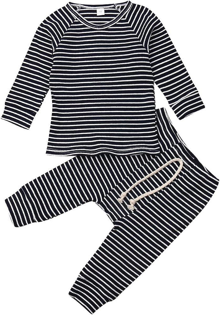 2PCS Baby Girls Clothes Boy Outfit Unisex Pajamas,Toddler Pjs Sleepwear Set
