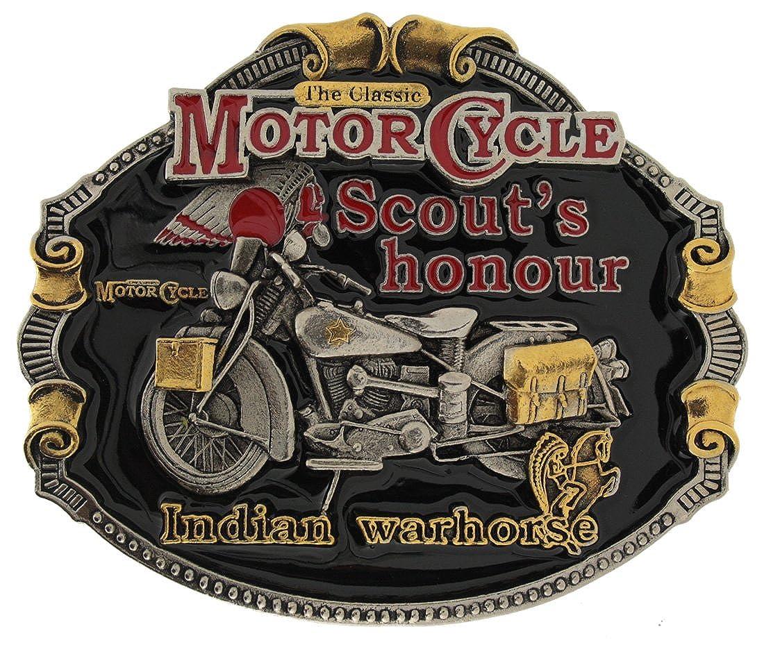 Indian Classic Motorcycle G/ürtelschnalle mit Vergoldung in einer meiner Pr/äsentationsschachteln.