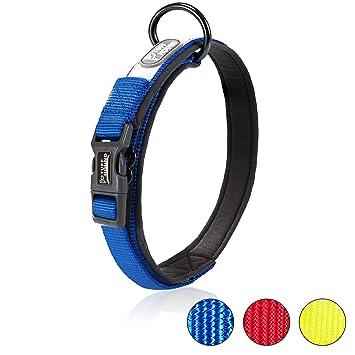 Negro Rantow Cuello de perro fuerte transpirable Collar de perro de seguridad ajustable c/ómodo para perros peque/ños grandes medianos XL 50-55cm