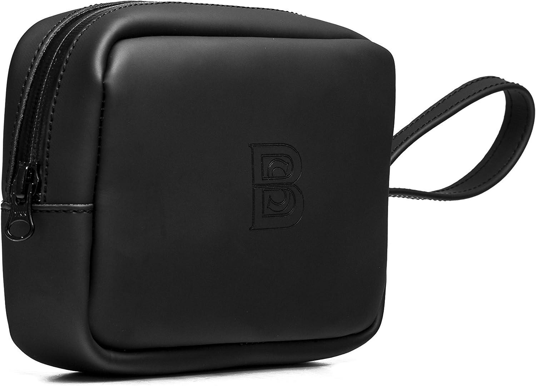 BRADLEYS Bolso de mano negro fabricado con neopreno italiano y logo serigrafiado. Su diseño en neopreno es perfecto para realizar deportes acuáticos. Neo Black