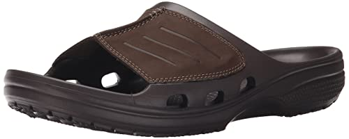 0ab11e9fd crocs Men s Yukon Mesa Slide M or Espresso Leather House Slippers-M10  (203294)