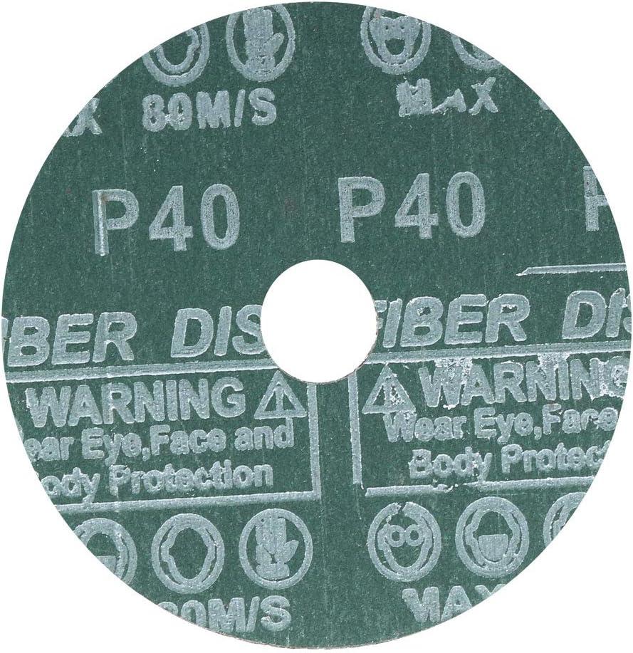 sourcing map 5-Inch x 7//8-Inch Aluminum Oxide Resin Fiber Discs Center Hole 36 Grit Sanding Grinding Discs 5 Pack