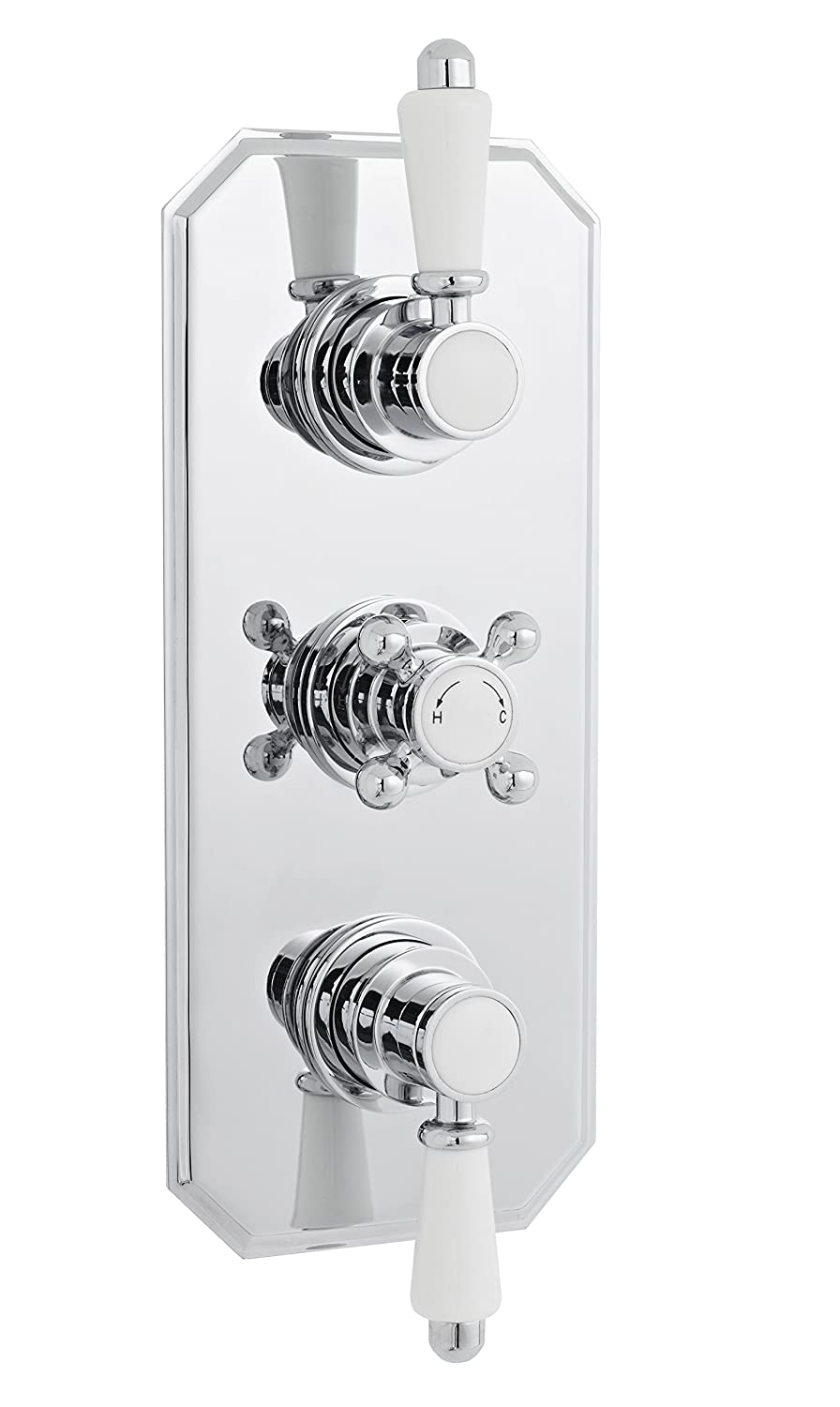 Premier A3099E Traditional Victorian Twin Thermostatic Shower Valve - Chrome HRA3099E