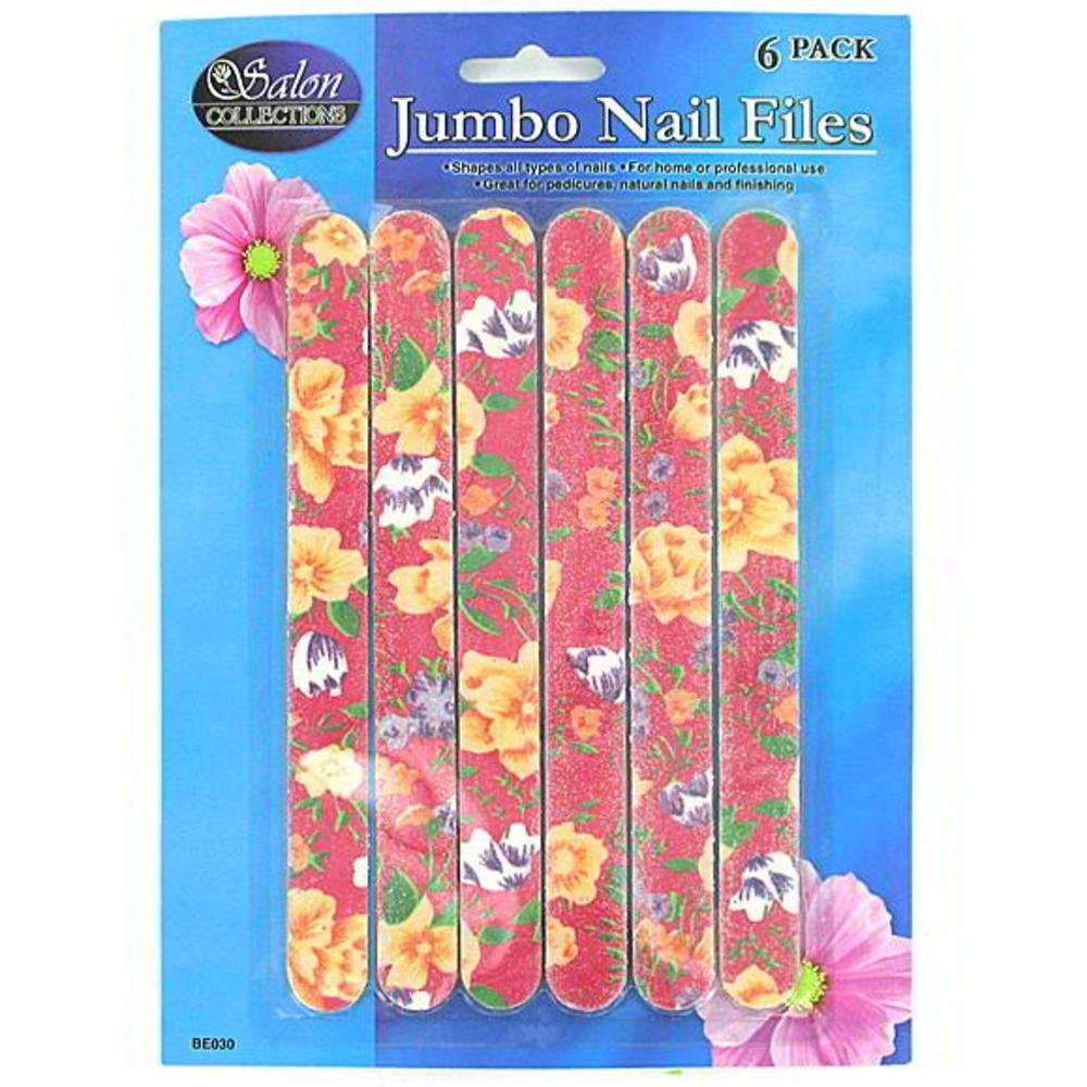 144 Emery board set with flower design