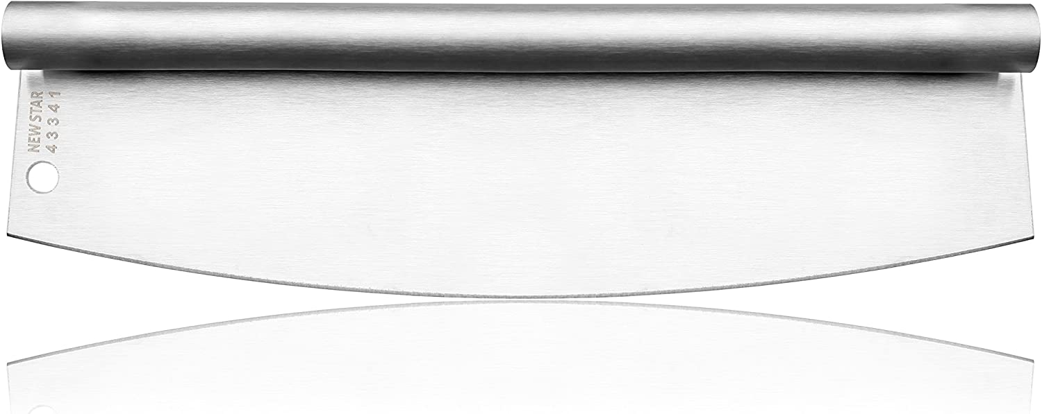 New Star Foodservice 43341 18/8 Stainless Steel Pizza Cutter, 13.75