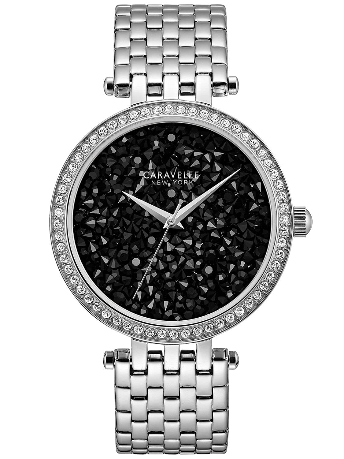 Caravelle New York Crystal Black Rock Damenuhr 43L199