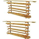 Portamate PBR-001 Wood Storage 110 lb Wall Mount Lumber Organizer System, 2-Pack