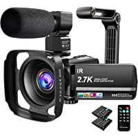 Video Camera Camcorder 2.7K Ultra HD YouTube Vlogging Camera 36MP IR Night Vision Digital Camera Recorder 16X Digital…